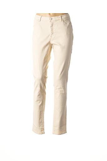 Pantalon casual beige C'EST BEAU LA VIE pour femme