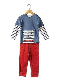 Top/pantalon orange BABY BOL pour garçon