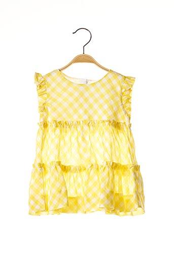 Robe mi-longue jaune MAYORAL pour fille