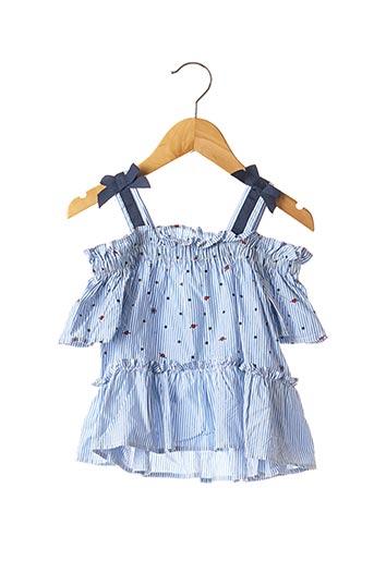 Tunique manches courtes bleu MAYORAL pour fille