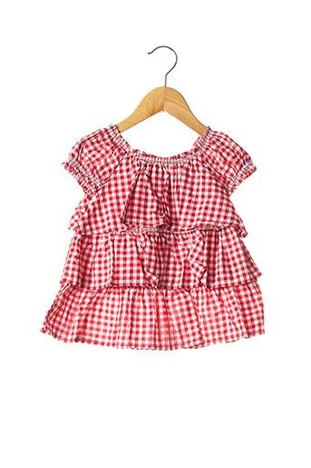 Tunique manches courtes rouge MAYORAL pour fille