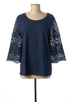 T-shirt manches longues bleu C'EST BEAU LA VIE pour femme