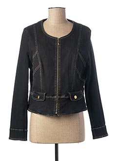 Veste en jean noir PAUL BRIAL pour femme
