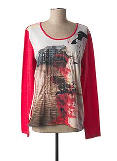 T-shirt manches longues rouge KATMAI pour femme