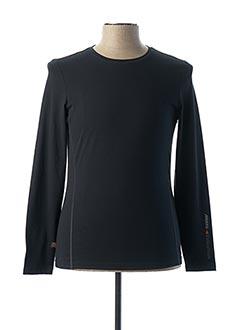 T-shirt manches longues noir MUSTO pour homme