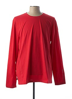 T-shirt manches longues rouge MUSTO pour homme