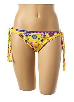 Bas de maillot de bain jaune ANTIGEL pour femme