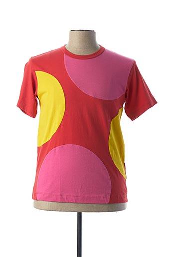 T-shirt manches courtes rouge COMME DES GARCONS pour homme