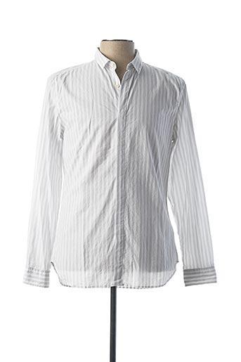 Chemise manches longues blanc PAUL SMITH pour homme