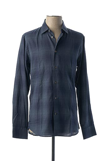 Chemise manches longues bleu PAUL & JOE pour homme