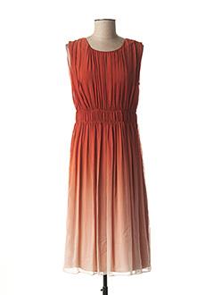 Robe mi-longue orange BURBERRY pour femme