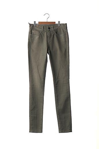 Jeans coupe slim gris ATELIER NOTIFY pour femme