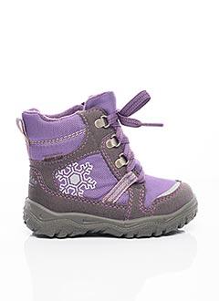 Bottines/Boots violet SUPER FIT pour fille