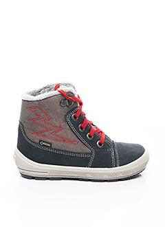 Bottines/Boots gris SUPER FIT pour garçon