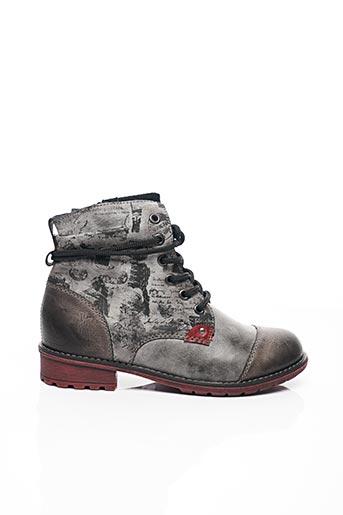 Bottines/Boots gris RIEKER pour fille