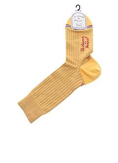 Chaussettes jaune LA CHAUSSETTE FRANÇAISE pour homme