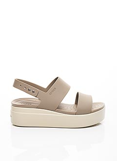 Sandales/Nu pieds marron CROCS pour femme