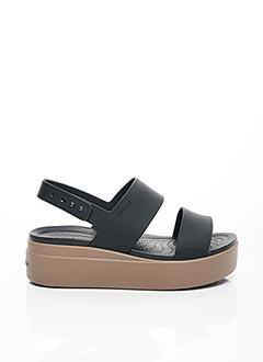 Sandales/Nu pieds noir CROCS pour femme