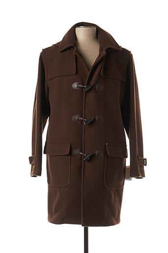 Manteau long marron DELAHAYE pour homme