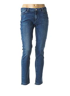 Jeans coupe slim bleu IKKS pour femme
