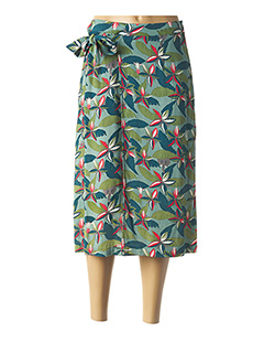 Jupe mi-longue vert NICE THINGS pour femme