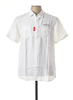 Chemise manches courtes blanc OXBOW pour homme