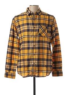 Chemise manches longues jaune MCS pour homme