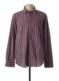 Chemise manches longues rouge MCS pour homme