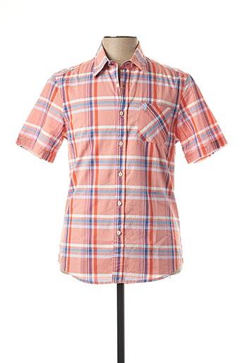 Chemise manches courtes orange MCS pour homme