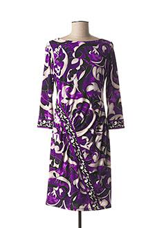 Robe mi-longue violet JOSEPH RIBKOFF pour femme