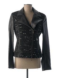 Veste simili cuir noir DANIEL HECHTER pour femme