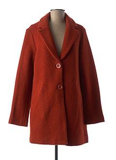 Manteau long orange NICE THINGS pour femme