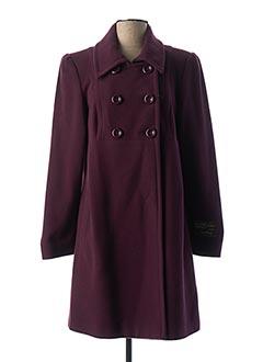 Manteau long violet MAZUR pour femme