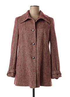 Manteau long rouge DANIEL HECHTER pour femme