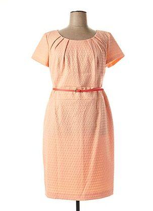 Robe mi-longue orange DANIEL HECHTER pour femme