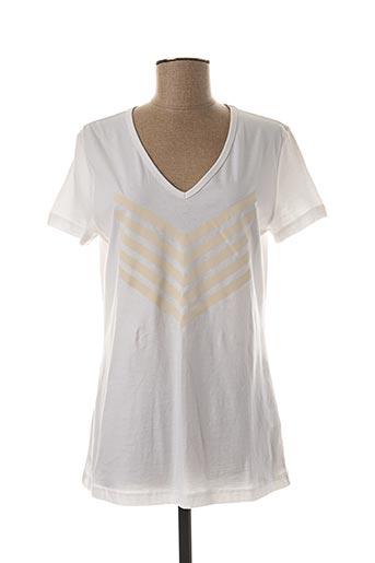 T-shirt manches courtes blanc HBT pour femme