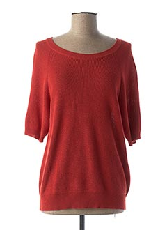 Pull col rond rouge VERO MODA pour femme