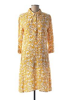 Robe mi-longue jaune MKT STUDIO pour femme