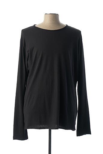 T-shirt manches longues noir REPLAY pour homme
