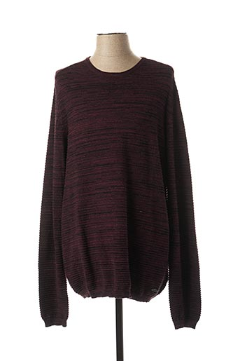 Pull col rond violet LEE COOPER pour homme