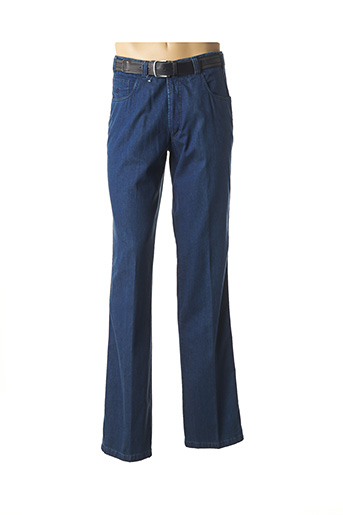 Pantalon casual bleu LUIGI MORINI pour homme