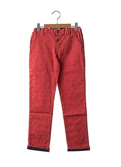 Pantalon casual rouge NANO & NANETTE pour garçon