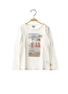 T-shirt manches longues blanc NANO & NANETTE pour garçon