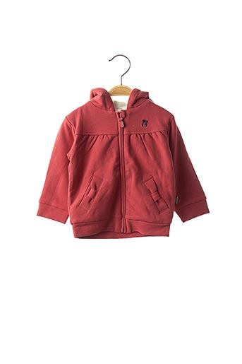 Veste casual rouge NANO & NANETTE pour fille