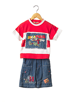 Top/pantalon rouge TOM KIDS pour garçon