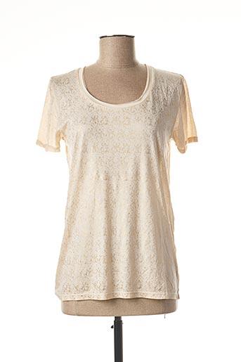 T-shirt manches courtes beige BERENICE pour femme