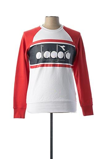 Sweat-shirt rouge DIADORA pour homme