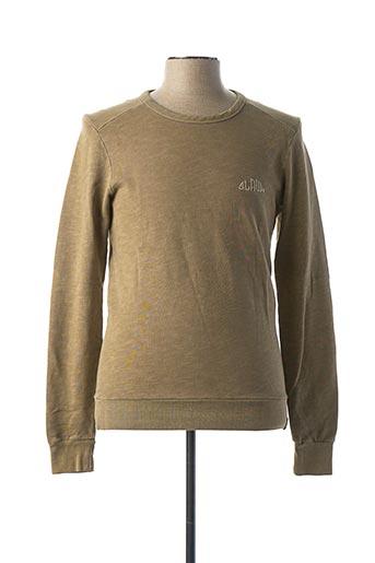 Sweat-shirt vert SCOTCH & SODA pour homme