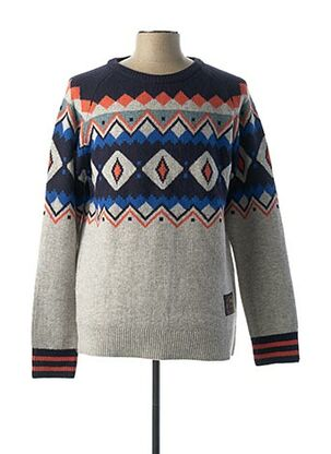 Pull col rond gris SCOTCH & SODA pour homme