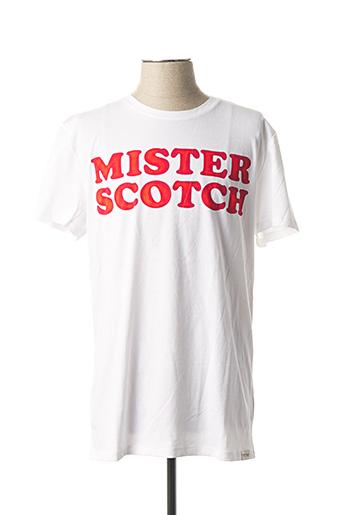 T-shirt manches courtes blanc SCOTCH & SODA pour homme